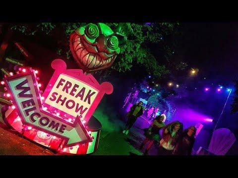 Freak Show Scare Zone Alton Towers Scarefest 2017 HD 60FPS