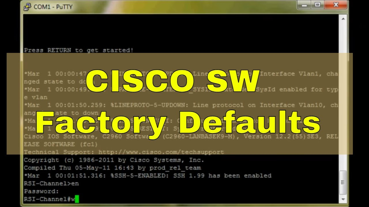 Cisco Switch 2950/2960 Reset to Factory Defaults