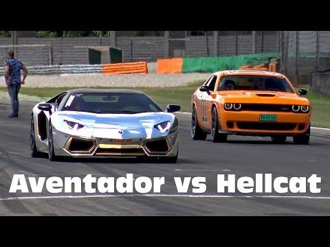 Lamborghini Aventador LP700 vs Dodge Challenger SRT Hellcat