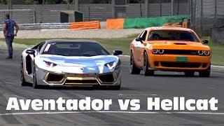 Video Lamborghini Aventador LP700 vs Dodge Challenger SRT Hellcat download MP3, 3GP, MP4, WEBM, AVI, FLV Agustus 2017