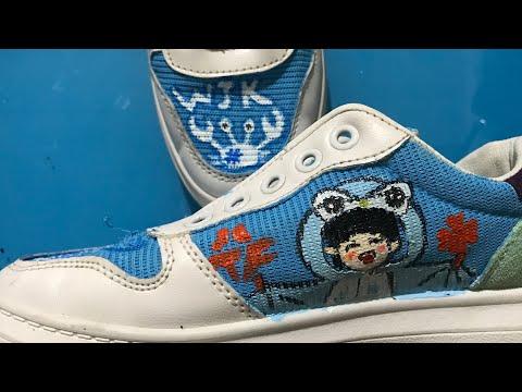 Vẽ trang trí giày bằng màu acrylic