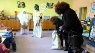 Mikuláš, anděl a čerti v Mš Čistá u Horek 2010