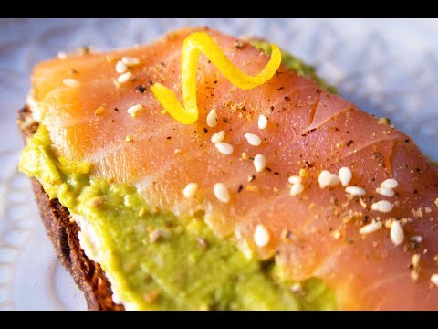 No.32 三文鱼牛油果吐司 100%绝配的三文鱼+牛油果!怎么做都好吃!