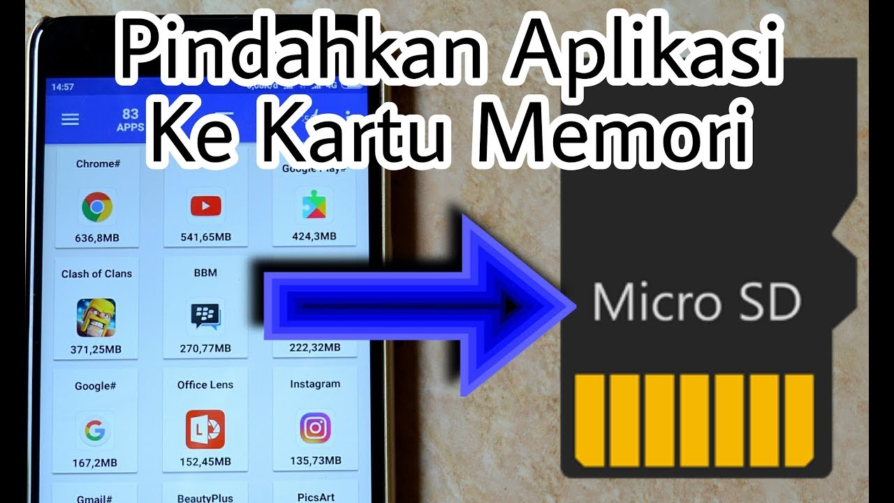 Cara Memindahkan Penyimpanan Aplikasi Ke SD Card - YouTube