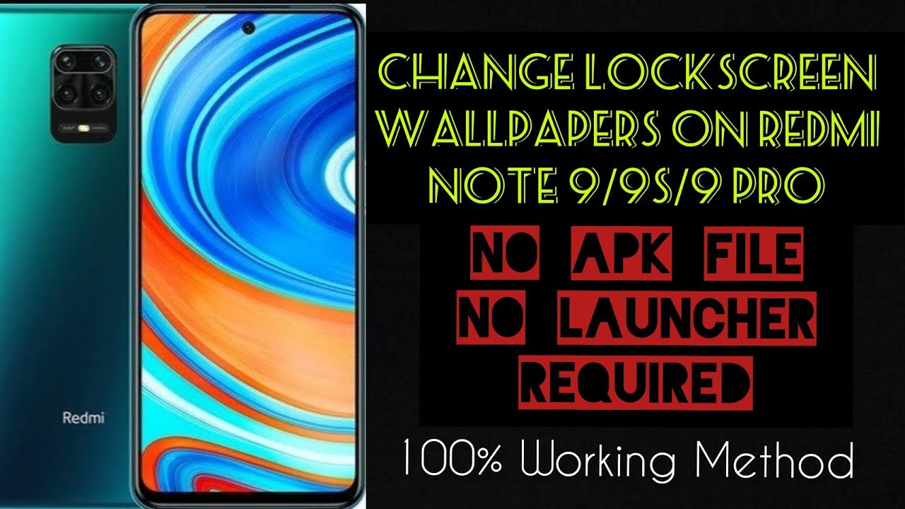 How To Change Lockscreen Wallpapers On Redmi Note 9 9s 9pro Auto Change Lockscreen Wallpapers Youtube