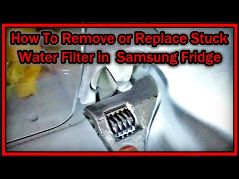 How To Remove Or Replace Stuck Water Filter In  Samsung Fridge