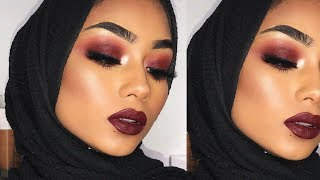 Fall cranberry fire smokey eye makeup tutorial and Q+A | Sabina Hannan