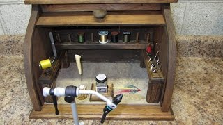 Bread Box Fly Tying Bench - Homemade