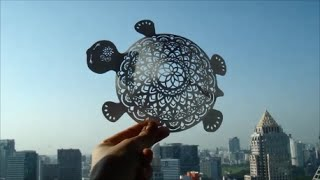 Hattifant - Mandala Turtle Papercut with Tutorial