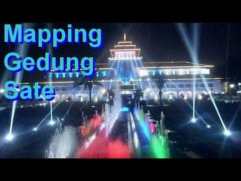 Video MAPPING Gedung Sate  &  FIREWORKS (kembang Api)  Jawa Barat,jabar Bandung