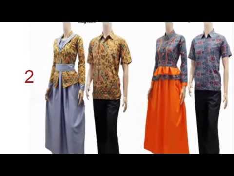 Contoh Batik Modern Model Baju Batik Wanita Remaja Youtube