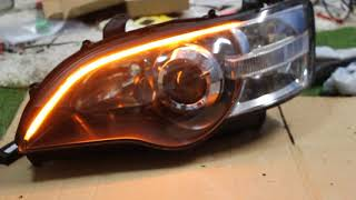 レガシィ BP BL A型からF型 薄型アイライン 流れるウインカー シーケンシャルウインカー