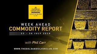 WEEK AHEAD COMMODITY REPORT: Gold, Platinum & Crude Oil Price Forecast: 22 - 26 July 2019