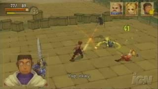 Radiata Stories PlayStation 2 Gameplay - Nice looking bridge