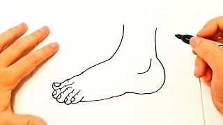 How to draw a Foot | Foot Easy Draw Tutorial