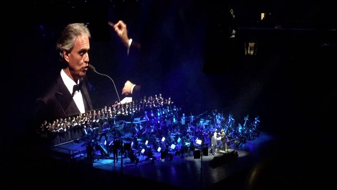 Andrea Bocelli O Sole Mio New York 12 13 17 Youtube