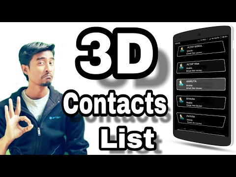 Contact Number App |Android 3D Contacts List | 3D Number Effect Android App | Number book by itech