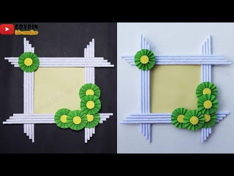 DIY Photo Frame Decoration Ideas | Ide Kreatif Membuat Bingkai Foto dari Origami | Hiasan Dinding
