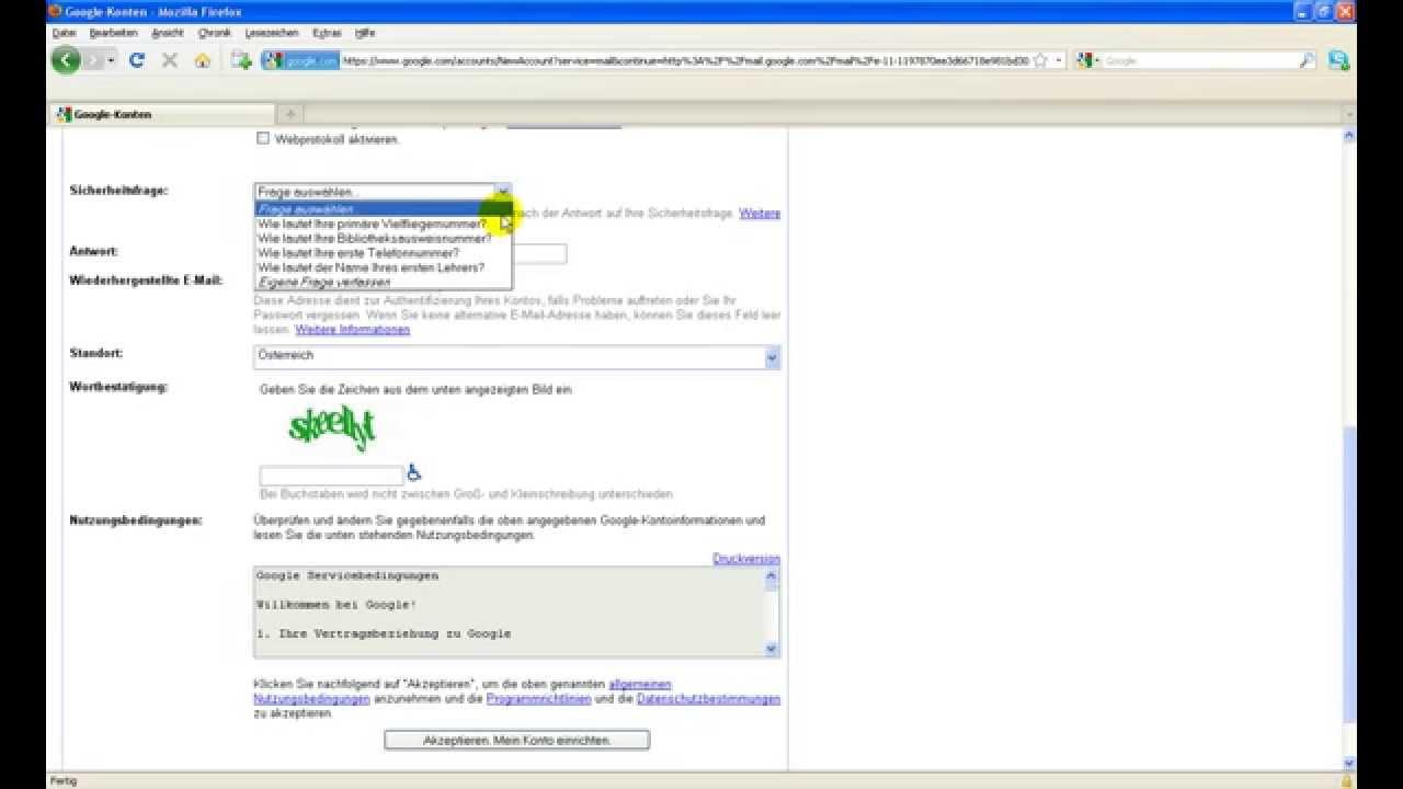 Kostenlose Emailadresse Google