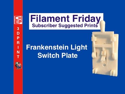 Filament Friday #6 - Frankenstein Light Switch Plate on Davinci 1.0 Video #042