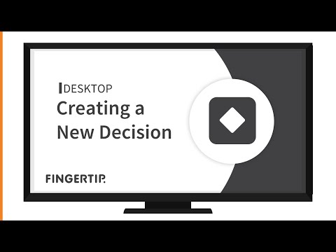 01 - How to create a decision