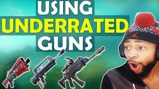 THE BURST RIFLE IS INSANE! | USING UNDERRATED GUNS - (Fortnite Battle Royale) thumbnail