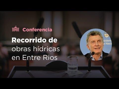 El presidente Macri recorrió las obras del sistema de provisión de agua potable en Concordia