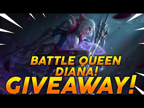 NEW DIANA SKIN! BATLLE QUEEN DIANA GIVEAWAY - FULL GAMEPLAY!