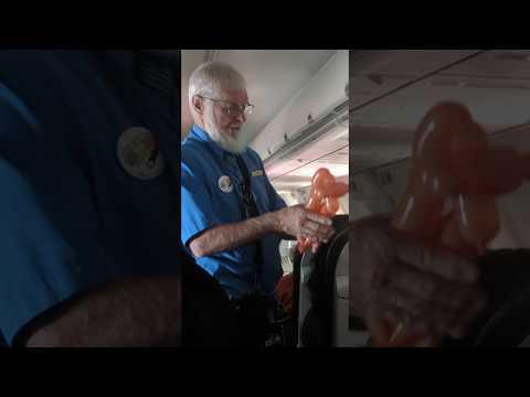 Eric Hunter - Flight Attendant Makes Balloon Animals to Entertain Passengers