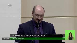 Parlamento aceita segundo pedido de impeachment de governador e vice