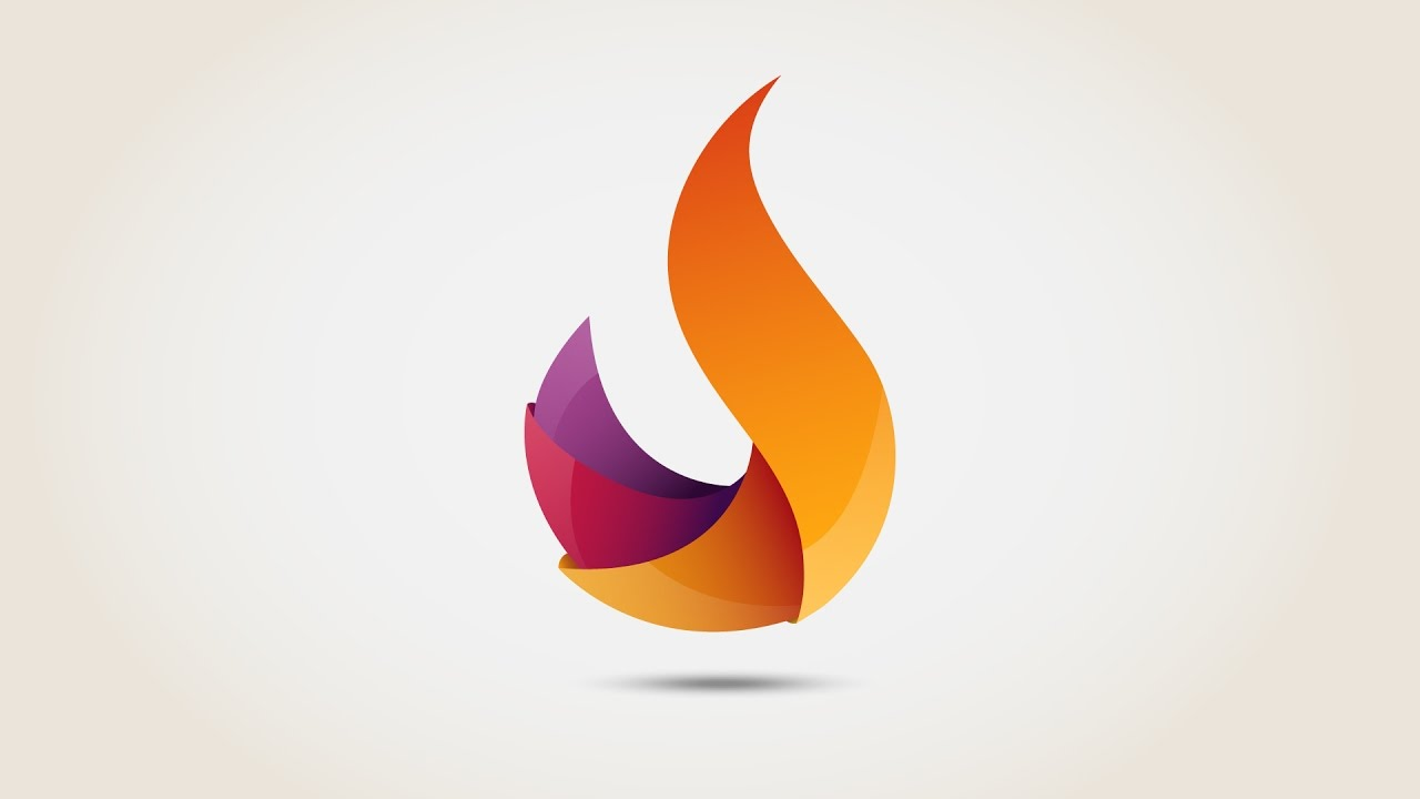 Flame 3D logo - Illustrator Free download | Speed Art ...
