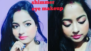My shimmer eyeshadow makeup look step by step. Must watch very helpful for you