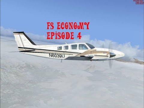 FS Economy #4 Vliegen met de Beechcraft Baron 58 van KCID naar KISW