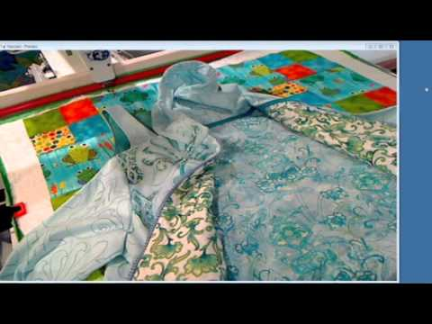 Frame Quilting Minky, Fleece and Stretch Fabrics  1 July 2014