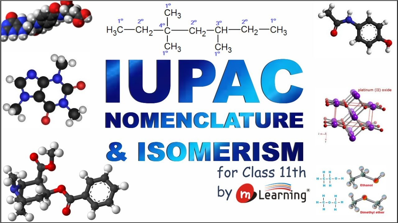 IUPAC Nomenclature and Isomerism of Organic Compounds - Class 11th &  IIT-JEE - 01/22