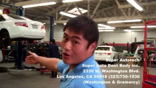 Kenny Kim tours you around Super Auto Dent BODY Inc. DBA Super Autotech for your auto repair