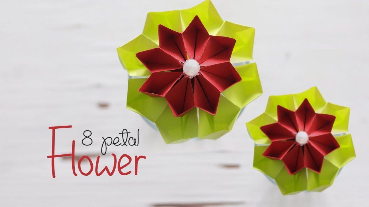 Diy 8 Petal Flower Youtube