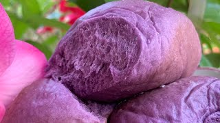Ube Coconut Milk Bread - Milk Bread - Sweet Purple Yam Milk Buns - Banh Mi Ngot Khoai Tim