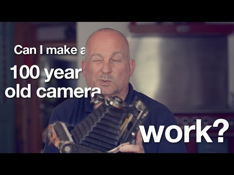 Using an antique camera