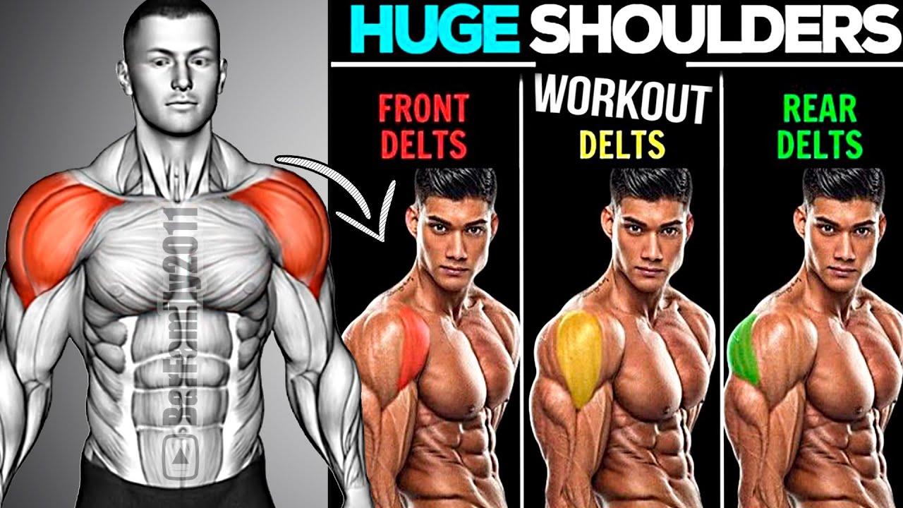 10 Best Exercises for Bigger Shoulders - Delts and Traps Workout