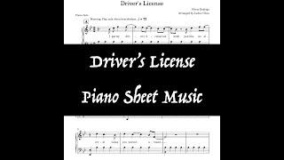 Driver's License | Olivia Rodrigo | Kid-Friendly (No Explicit Content) Piano Sheet Music