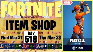 Fastball Skin + Three Strikes Set | 🆕 x 6 | Fortnite Item Shop #518 | 27 March 2019
