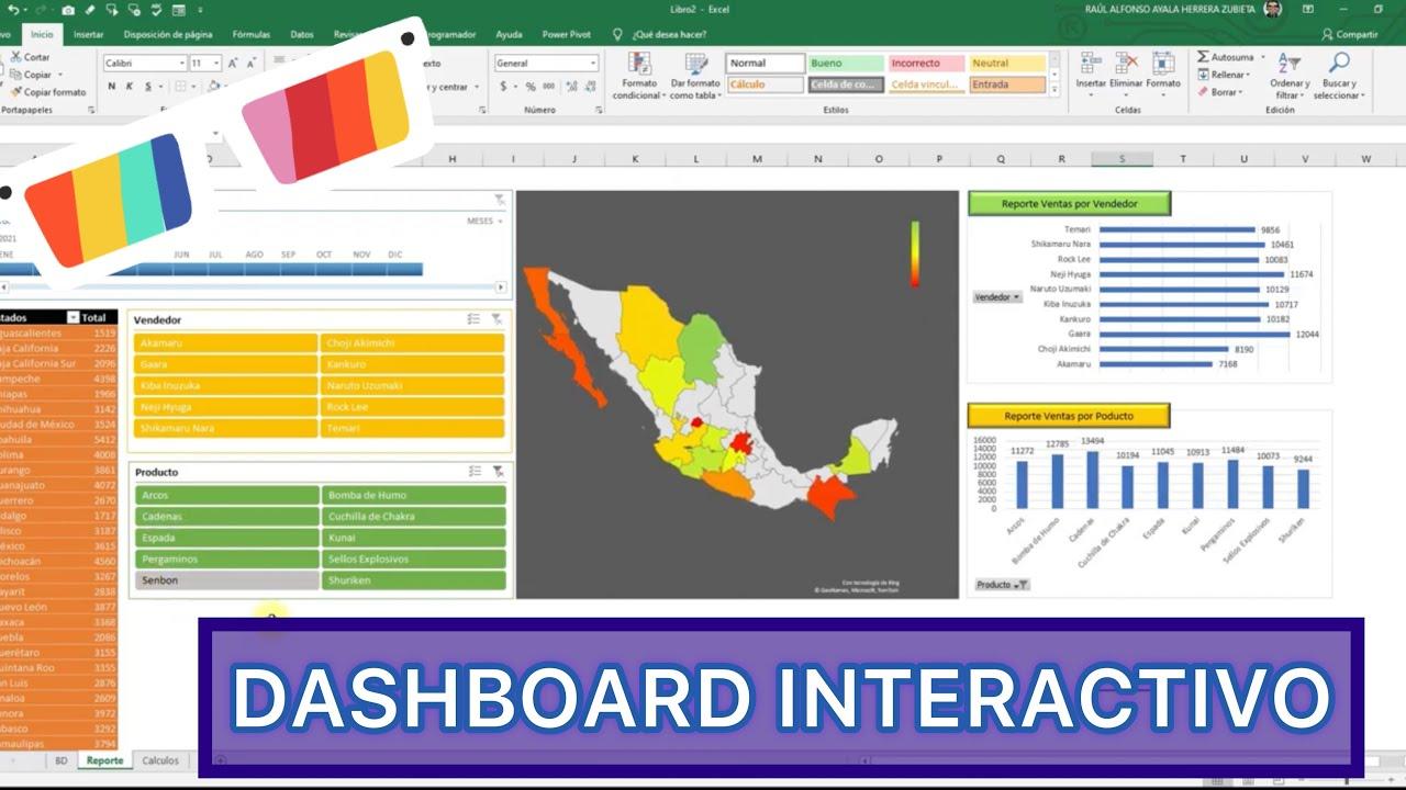 ⭐️DASHBOARD INTERACTIVO⭐️ Control de Ventas 🎯 en Excel