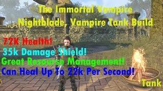 ESO Builds: The Immortal Vampire / Nightblade Vampire Tank Build