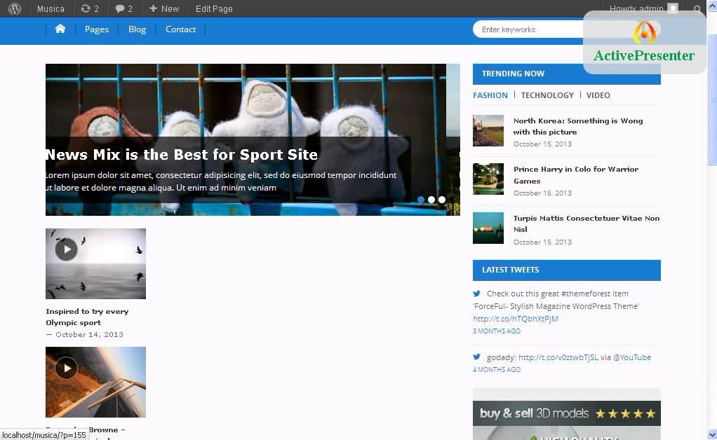 How to set up Musica- Free Magazine WordPress Theme? - YouTube