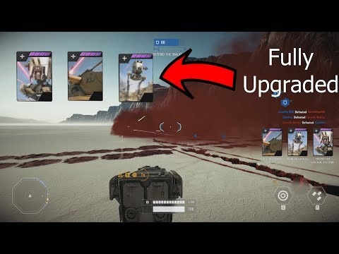 FULLY UPGRADED FIRST ORDER AT-ST - Star Wars Battlefront 2