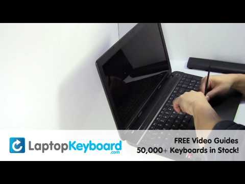 Toshiba Satellite C50D Keyboard Installation C70 Replacement Guide - Laptop Remove Replace Install