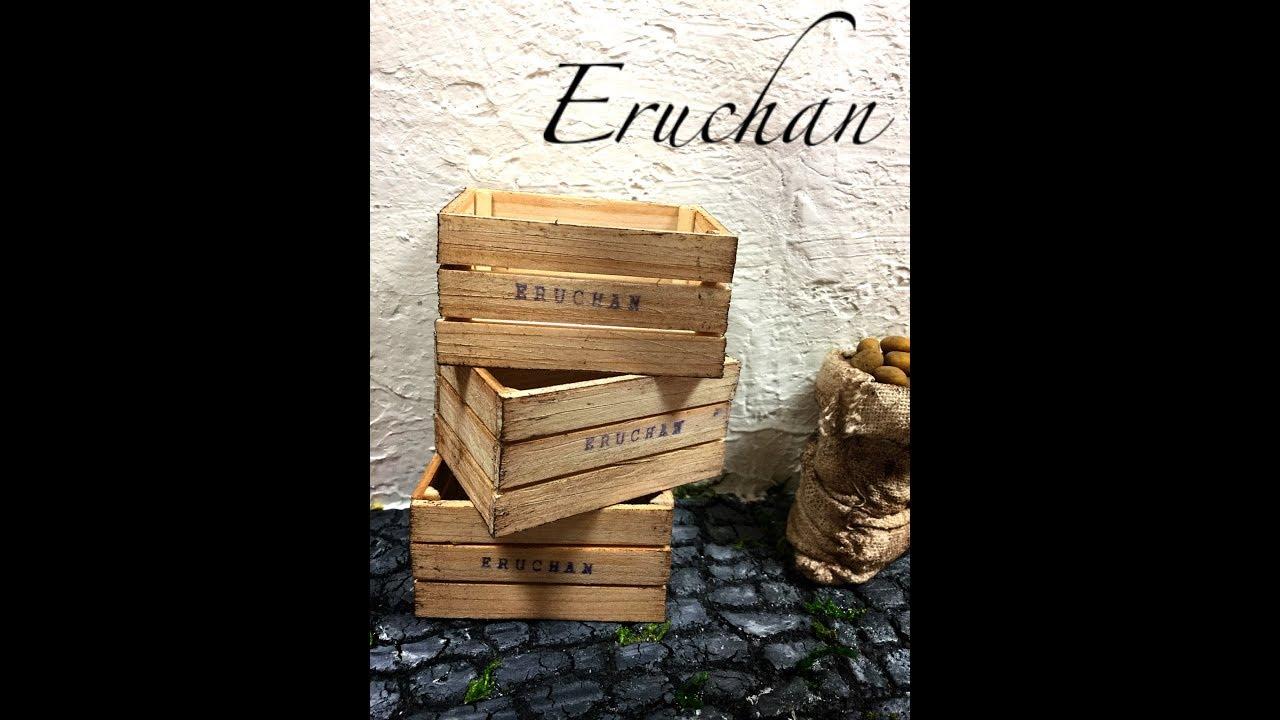 Como hacer cajas de madera miniatura para verduras y - Caja de frutas de madera ...