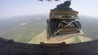 Air Force drops humvees from 5,000 feet