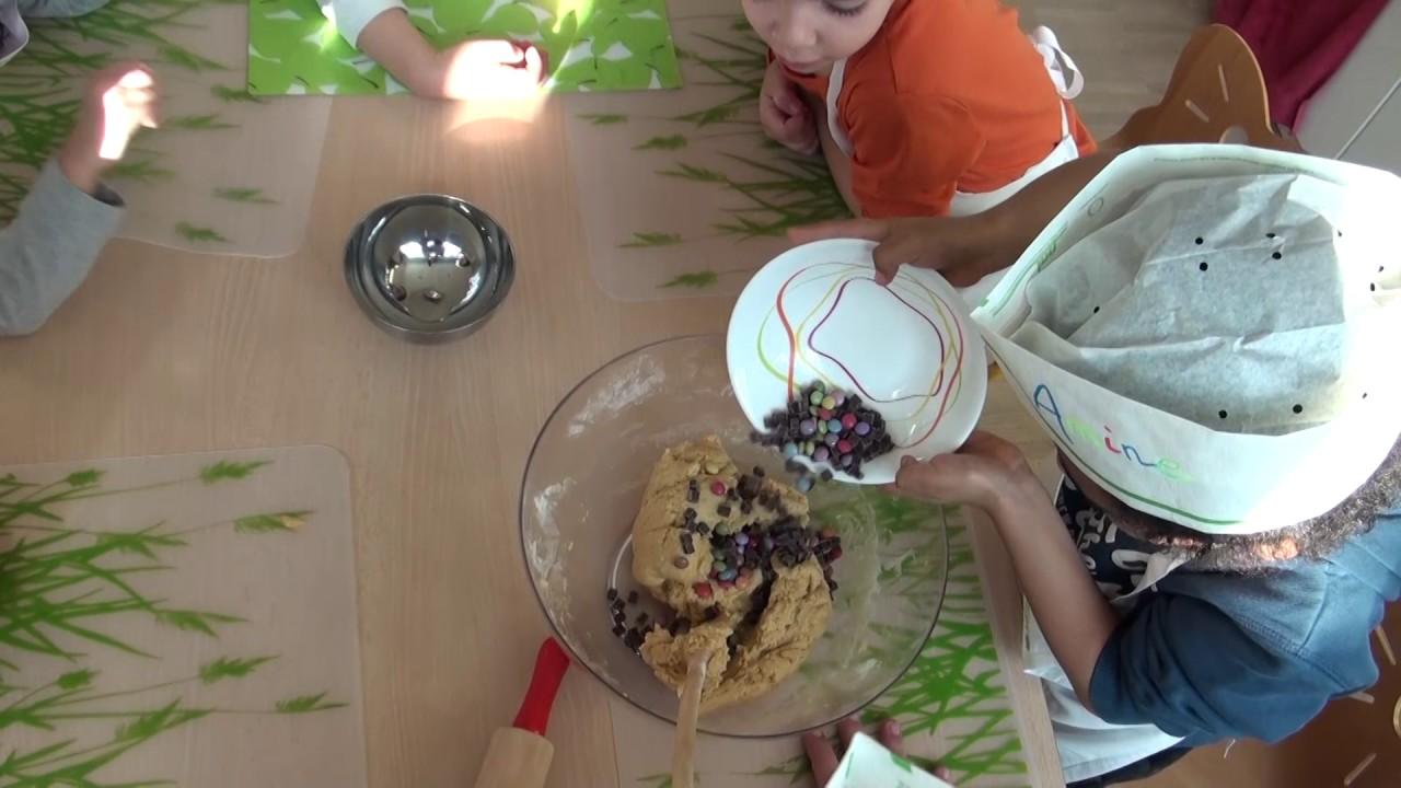 Atelier cookies à la crèche EVE Marcelly à Genève